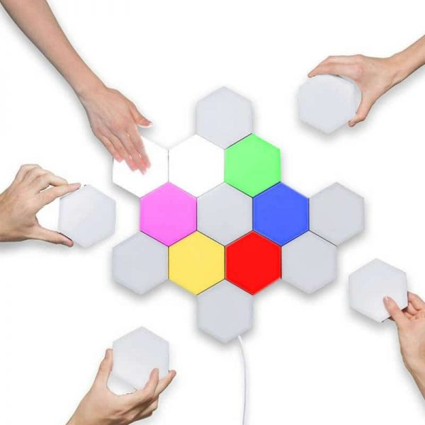 LED-Touch-Night-Light-Hexagonal-Module-Quantum-Light-Colorful-Home-Decoration-Wall-Light-Lighting-Creative-Honeycomb
